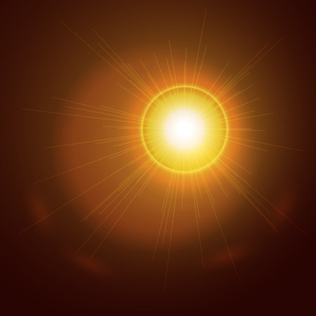 ray trace: Abstract light gold sun background. Glowing sun ray. Glowing trace with magic sparkle. Vector transparent background