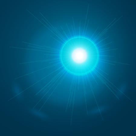 ray trace: Abstract light blue background. Glowing sun ray. Glowing trace with magic sparkle. Vector transparent background