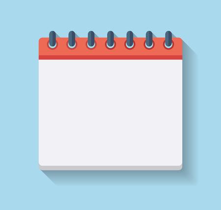 Flat Calendar Icon. Blank calendar template.