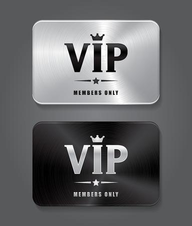 metal black: Silver VIP card and Black VIP card