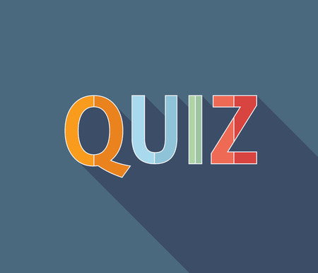 Quiz logo, flat icon. Question competition. Questionnaire concept. Vector background Illustration