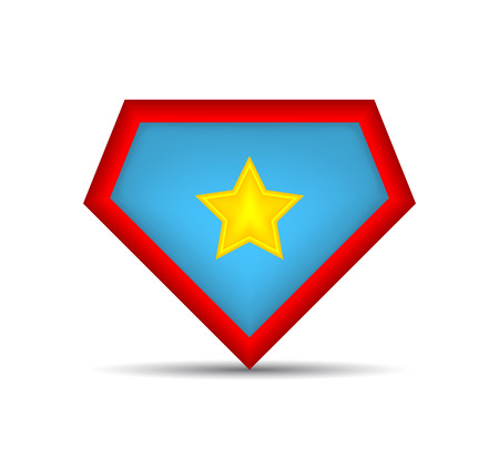 Superhero logo Icon. Vector