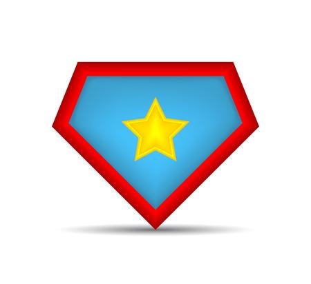 Superhero logo Icon. Vector