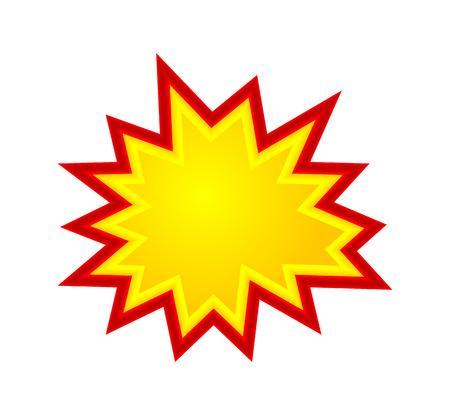 Bursting speech star, starburst speech bubbles, vector illustration isolated Illustration