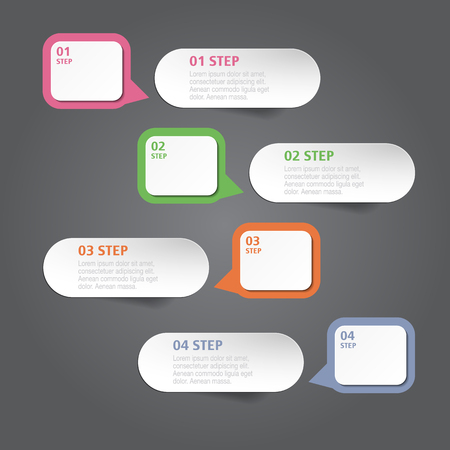 numbers abstract: Design template and marketing icons can be used for infographic. Business concept with 4 options, steps or processes. Vector workflow layout