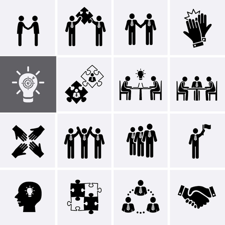 stakeholder: Team Work, Career and Business Process Icons. Vector human resource management Illustration