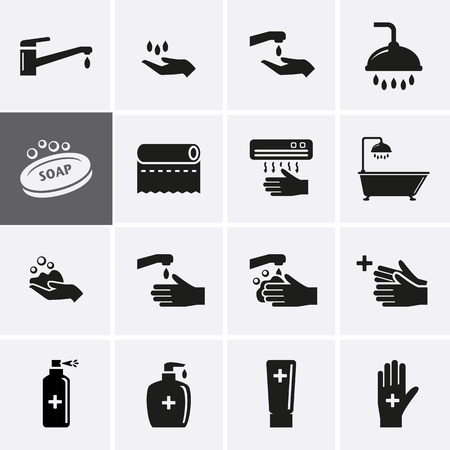 drop water: Hygiene and Sanitation Icons. Vector set