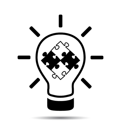 크리 에이 티브 아이디어 기호 아이콘입니다. 벡터 개념 스톡 콘텐츠 - 88499467