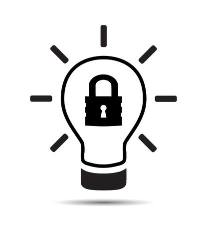 Patent Idea Symbol icon. Vector intellectual property concept
