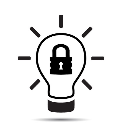 Patent Idee Symbol Symbol . Vektor Geistiges Eigentum Konzept