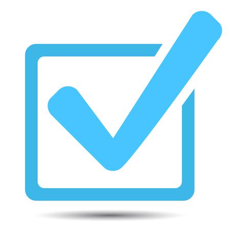 緑色のチェック マーク ok、チェック マークのベクトルで承認されたアイコン ボックス  イラスト・ベクター素材