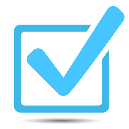 Approved icon box with a green tick ok, Check mark vector