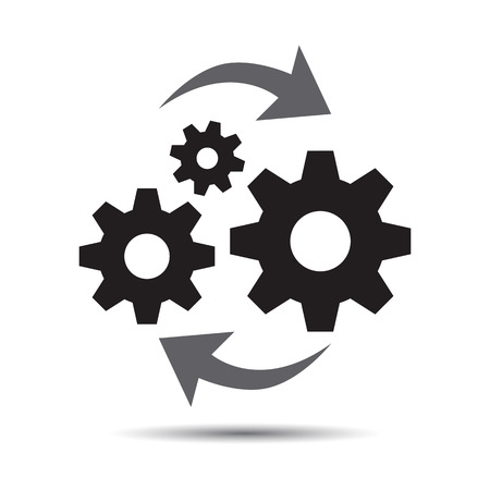 Operations Icon, Vector business management Stock Illustratie