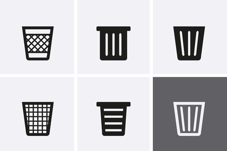 Trash Can Icons. Bin Icons. Do Not Litter. Vector for web