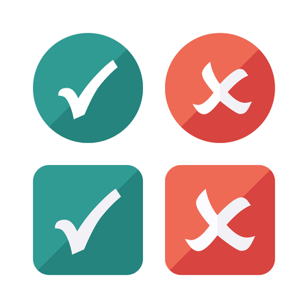 Tick Checkbox Icons set. Vector Check list button icon