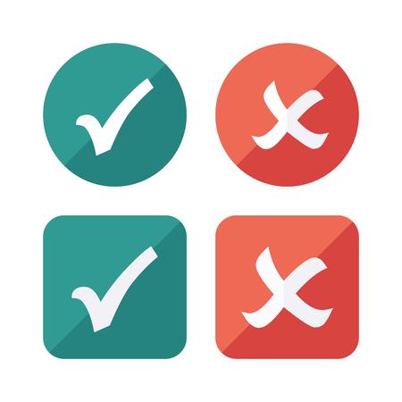 Tick Checkbox Icons set. Vector Check list button icon