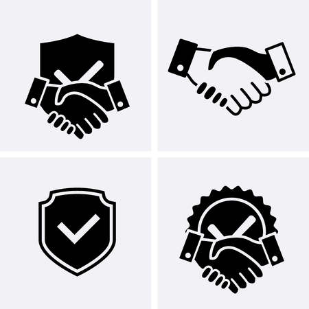Trust Icons. Vector set Illustration