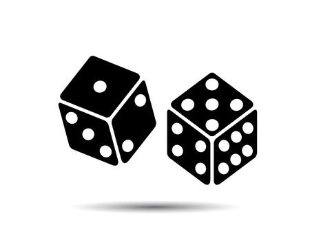 Dos dados para apostar, juego de Vector