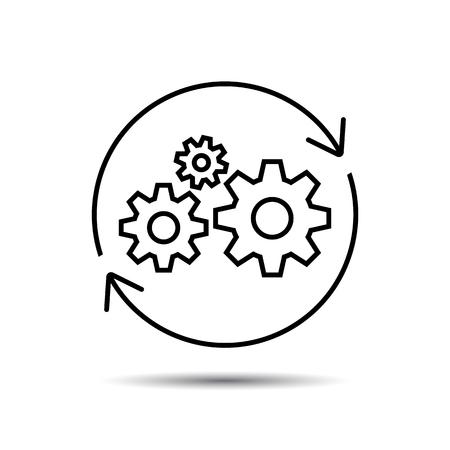 Icono de operaciones, gestión empresarial de Vector