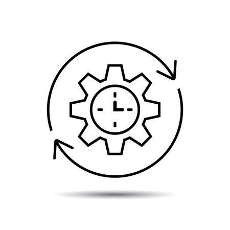 Productivity Icon, Vector Foto de archivo - 111951929