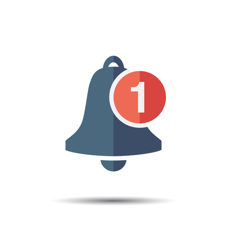 Notification Bell Icon. Vector bell for message notice.