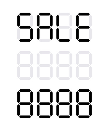 Digital price tag, Vector icons numbers