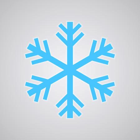 Snowflake logo, Freezer Icon. Cold Temperature Vector Logo