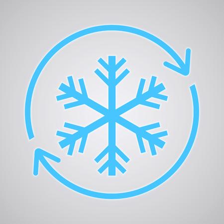 Snowflake logo, Freezer Icon. Cold Temperature Vector