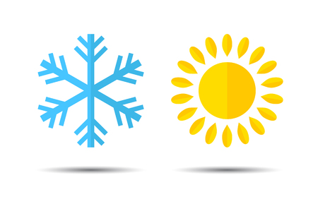 Hot and Cold Temperature Icon. Vector
