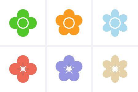 Flower Icons set. Vector for design 일러스트