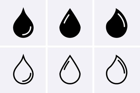 Water drop Icons. Vector set
