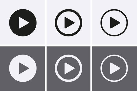 Play video button, Video camera Icon set, Play Vector. Streaming icons