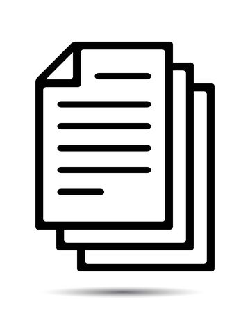 Documents Icon. Vector write and read document