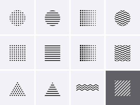 Memphis shape Icon design elements. Vector set 1980 style