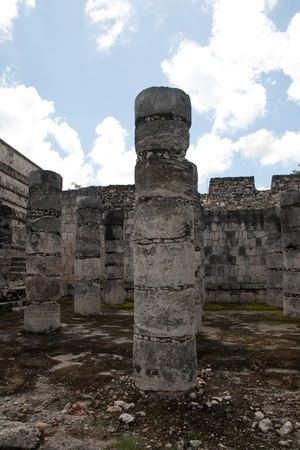 Temple of Kukulkan, often referred to as El Castillo (the castle), Chichen Itza (at the mouth of the well of the Itza), large pre-Columbian archaeological site built by the Maya civilization, on July 31st, 2010 Stock Photo - 11768060