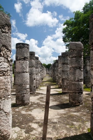 Temple of Kukulkan, often referred to as El Castillo (the castle), Chichen Itza (at the mouth of the well of the Itza), large pre-Columbian archaeological site built by the Maya civilization, on July 31st, 2010 Standard-Bild