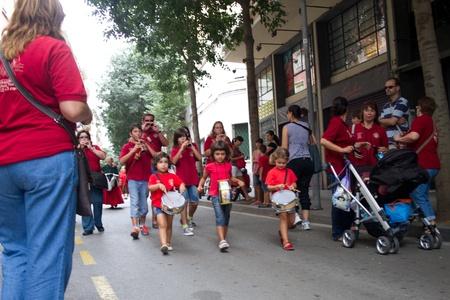 merce: BARCELONA - JULY 17:  Festa Major del Raval Festival on July 17, 2011 in Raval, Barcelona, Spain Editorial
