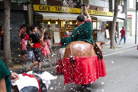 merce:  Festa Major del Raval Festival on July 17, 2011 in Raval, Barcelona, Spain Editorial