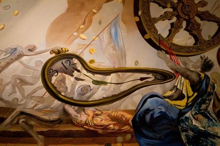 FIGUERAS - 26 de julio: Detalles del Museo Dalí, inaugurado el 28 de septiembre de 1974, y la vivienda la mayor colección de obras de Salvador Dalí, el 26 de julio de 2011 en Figueras, Cataluña, España Editorial