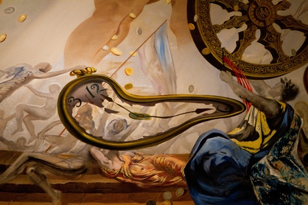 FIGUERAS - JULY 26: Details from Dali's Museum, opened on September 28, 1974 and housing the largest collection of works by Salvador Dali on July 26, 2011 in Figueras, Catalunya, Spain