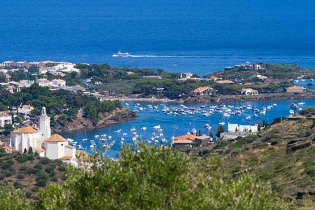 Aerial view of Cadaqués marina, Spain Standard-Bild