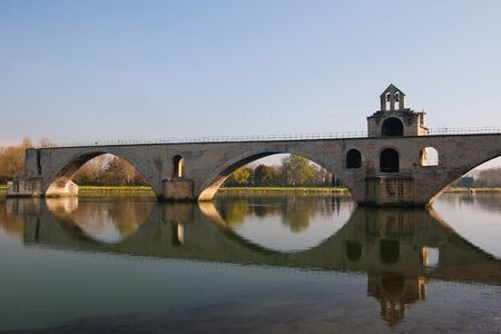 spanned: Pont dAvignon, built between 1171 and 1185, originally spanned River between Avignon and Villeneuve