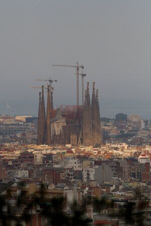 Aerial view of Barcelona, Spain