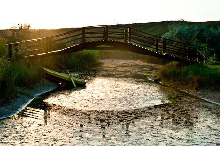 Vintage sunset reflection in lake Stock Photo - 14494944