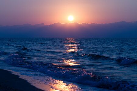 Sunrise in Vadu, Black Sea Stock Photo - 14490625