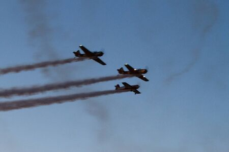 BUCHAREST - JULY 21: Romanian Airshow on Baneasca Airport on July 21, 2012 in Bucharest, Romania
