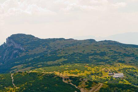 View of Ceahlau, Carpathian  Carpati  Mountains, Romania photo