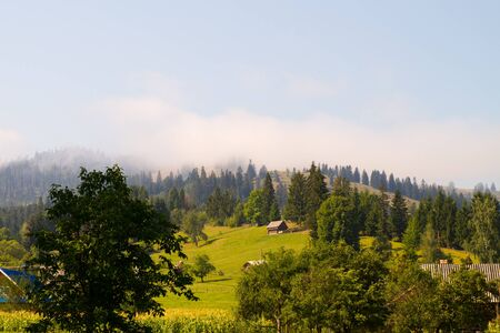 View of Ceahlau, Carpathian  Carpati  Mountains, Romania photo