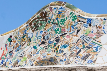 Mosaic pattern - Parc Guell, Barcelona, Spain Stock Photo - 15347201
