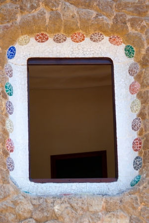 Beautiful window frame with mosaic ornaments Stock Photo - 15359195
